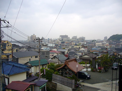 View of Koshigoe from the top of the stairs