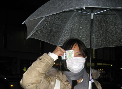 Mich in rainy Kyoto